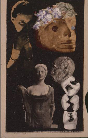 Adorée au grand air (L'art de lire l'avenir), 1935, collage. César Moro. Obra Plástica. 2018. Lima: Academia Peruana de la Lengua.