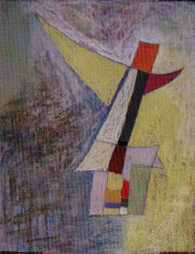Sin título. Lima, 1954. Pastel sobre papel. Colección Emilio Adolfo Westphalen. Lefort, D. & Villegas, F. (2018). César Moro. Obra Plástica. Lima: Academia Peruana de la Lengua.