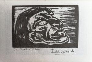 Julia Codesido. J. C. Mariátegui. 1930. Xilografía.