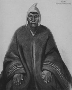 Julia Codesido. Indio Aymara. Fuente: Mariátegui, José Carlos (enero, 1928). [Arte peruano: Julia Codesido]. Amauta, 3(11), p. 10