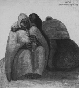 Julia Codesido. La Quena. Mariátegui, José Carlos (enero, 1928). [Arte peruano: Julia Codesido]. Amauta, 3(11), p. 10. Archivo José Carlos Mariátegui.