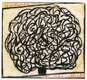 Julia Codesido - Serigrafía 1967 Serigrafía para catálogo de la muestra de 1967.