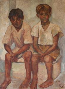 Los.paniches Cuadro de Cota, 1932 imagen tomada de: https://fundacionreneenavarreterisco.org/los-paniches/