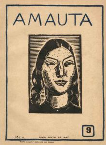 José Sabogal. Cholita cusqueña (Xilografía). Amauta 9, Lima, mayo de 1927. Archivo José Carlos Mariátegui.