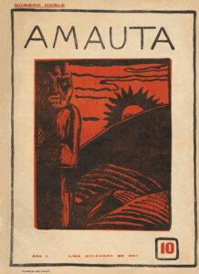 José Sabogal. Cholita arequipeña (Xilografía). Amauta 12. Lima, febrero de 1928. Archivo José Carlos Mariátegui.