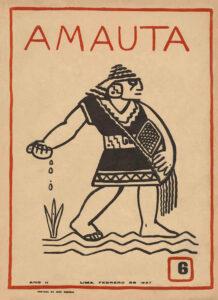 José Sabogal. Sembrador. Amauta 6, Lima, febrero de 1927.Archivo José Carlos Mariátegui.